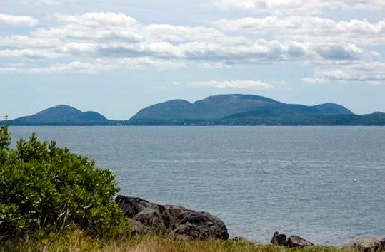 Mount Desert Island view from lawn