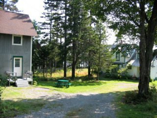 Cottage and Guest House, Hancock Point - Driveway and Guest House