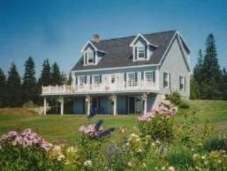 Exterior of Bass Harbor Guest House and gardens