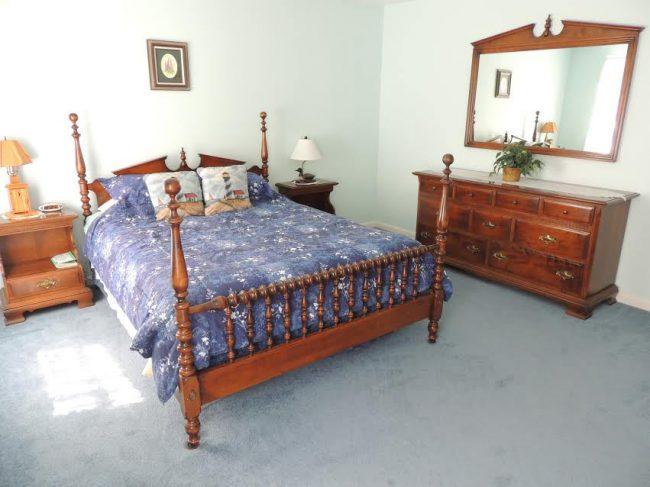 Acadia Dreamscape bedroom, vacation rental home, Maine