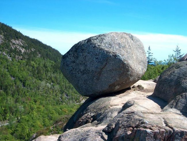 Hiking trail with view, Bubble Rock, Acadia National Park