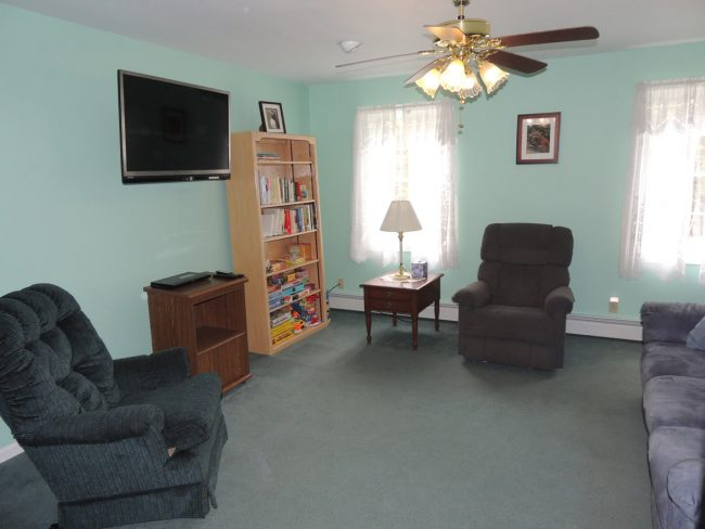 Comfortable family room with flatscreen TV