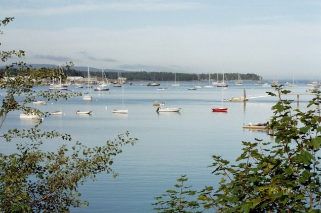 Southwest Harbor, ocean, sailboats, scenic view