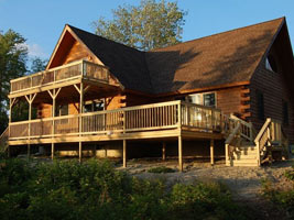 Beautiful Lodge on Carrying Place Cove, Harrington Bay, Maine Vacation Home Rental, log home