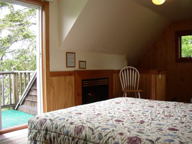 Bedroom and Deck, Bass Harbor Cottages