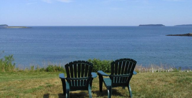 Chairs with a view of the Atlantic Ocean