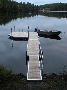 Dock, Pinehurst Too, lakes and mountains region, Maine