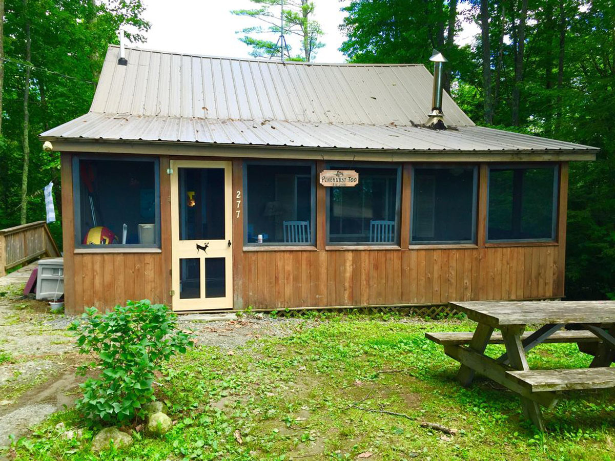 Pinehurst Too, Front of Cabin, lakes and mountains region, Maine