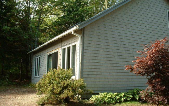 Cottage 1, facing pond