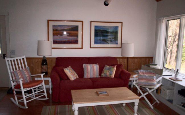 Hodgdon Pond Farm Cottage 1 Living Room