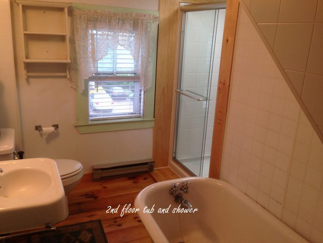 2nd floor tub and shower