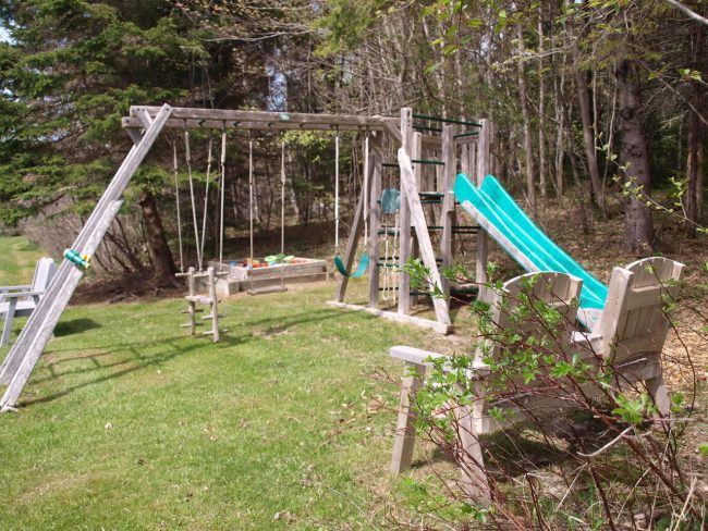 Shared play area at the little ponds