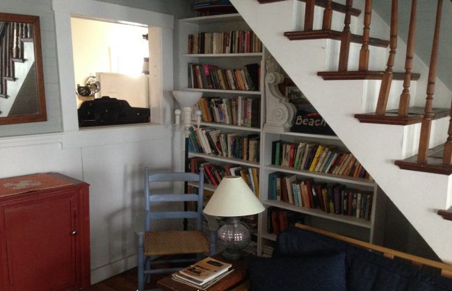 Living room library area