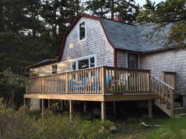 Lyford Cottage deck exterior ocean view