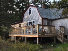Lyford Cottage deck exterior ocean view