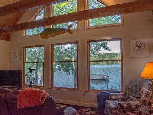 Log Cabin on Davis Pond - windows