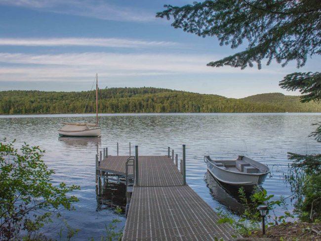 Log Cabin on Davis Pond - summer view